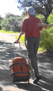 Follower holding rollerbag