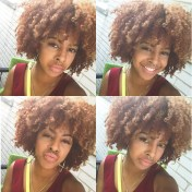 Rocking my twistout, of course using naturalicious products!