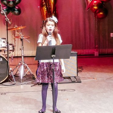 The Little Bird singing at Holiday Concert