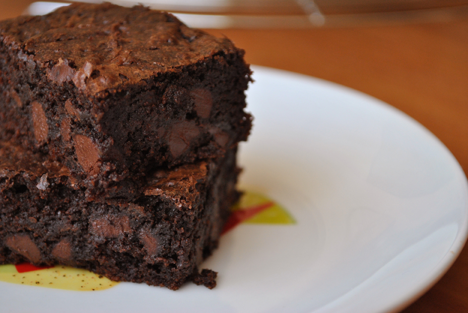 Chocolate Chip Brownies Closeup