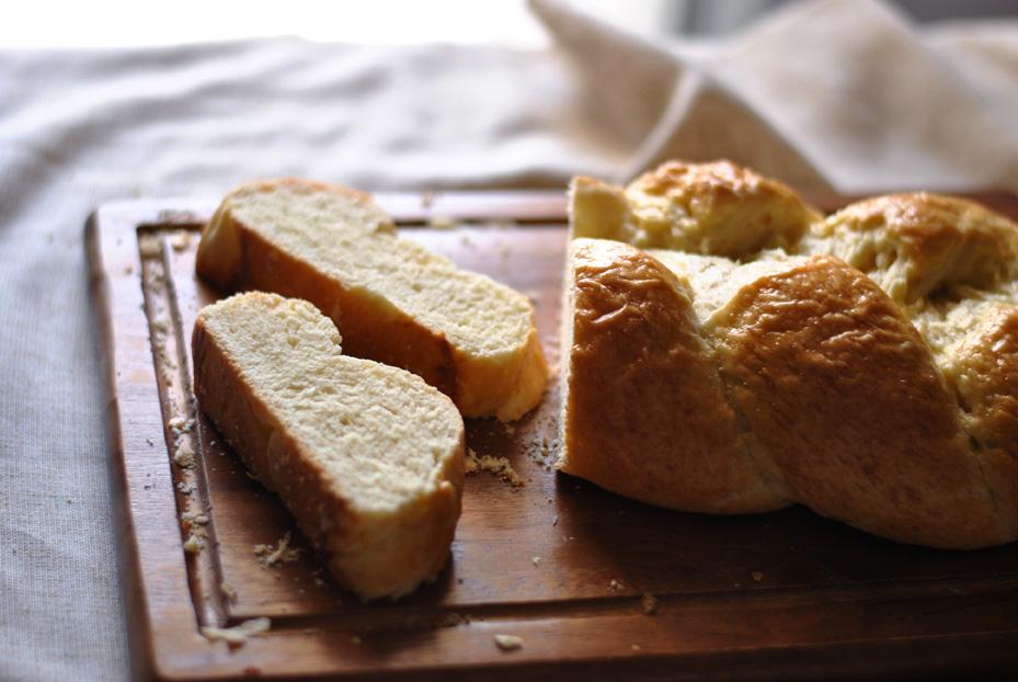Sliced Zopf bread