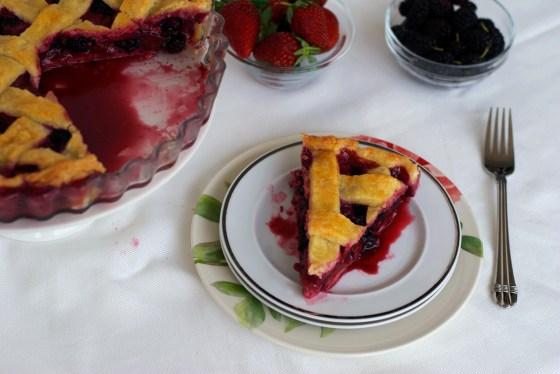 Blackberry & Strawberry Pie
