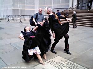 MEMBERS OF MARINERA PERU AND DANCE PARADE NEW YORK PARTICIPANTS AT CITY HALL