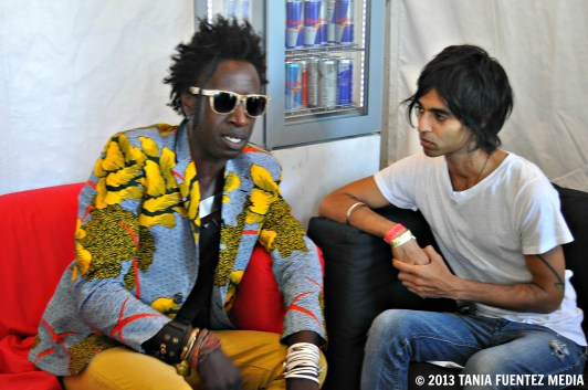 SAUL WILLIAMS DURING AN INTERVIEW AT AFROPUNK