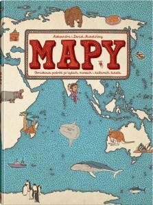 mapy 223x300 - Mapy. Obrazkowa podróż po lądach, morzach i kulturach świata -  Aleksandra Mizielińska, Daniel Mizieliński