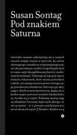 Pod znakiem Saturna - Pod znakiem Saturna - Susan Sontag