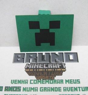 convite minecraft pop up tania maria atelie