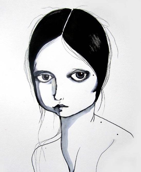 María José 10.8 x 14.8 inches, pen-ink