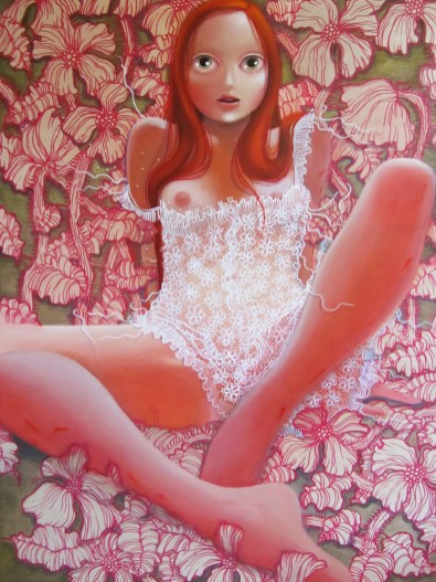 Sugar honey vengeance baby 30 x 40 inches, oil on wood, 2012