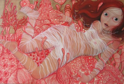 The fragile in between state 24 x 36 inches, oil on wood, 2011
