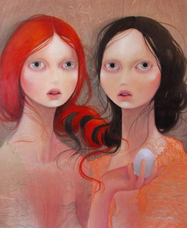 The new alliance 18 x 24 inches, oil on wood, 2011