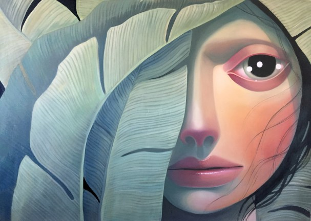 The Slow Reveal, 50 x 80 inches, oil on linen, 2017