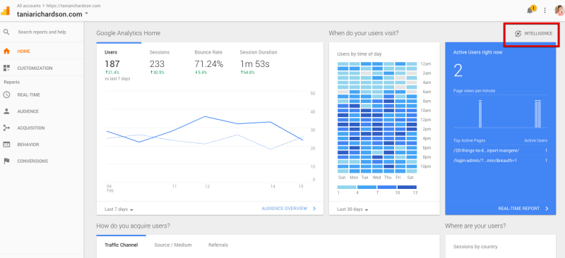 Google analytics assistant.