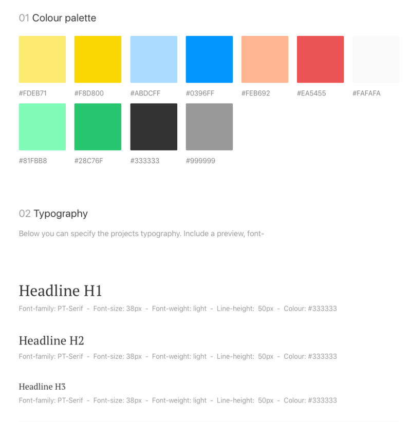 Style Guide Design debt 1.