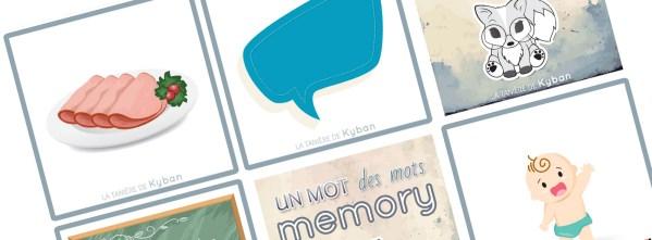 """Cartes du memory """"un mot, des mots"""""""