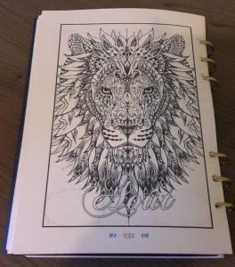 Page Août de mon Bullet Journal