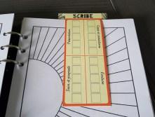 Marque-page du scribe en action