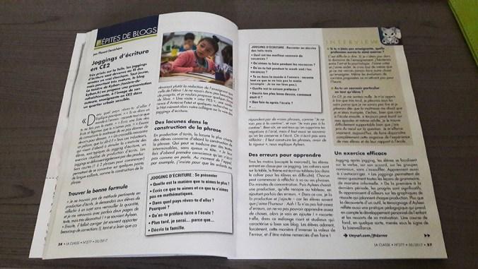"""Magazine La Classe ouvert sur la page """"Pépites de Blogs"""""""