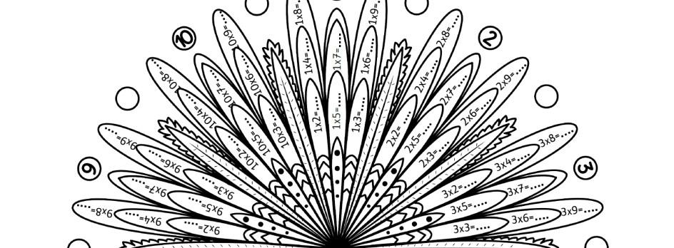 Mes Mandalas Des Tables De Multiplication La Tanière De Kyban