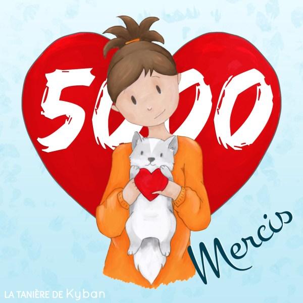 5000 likes sur Facebook