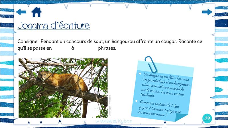 Jogging d'écriture - Cougar