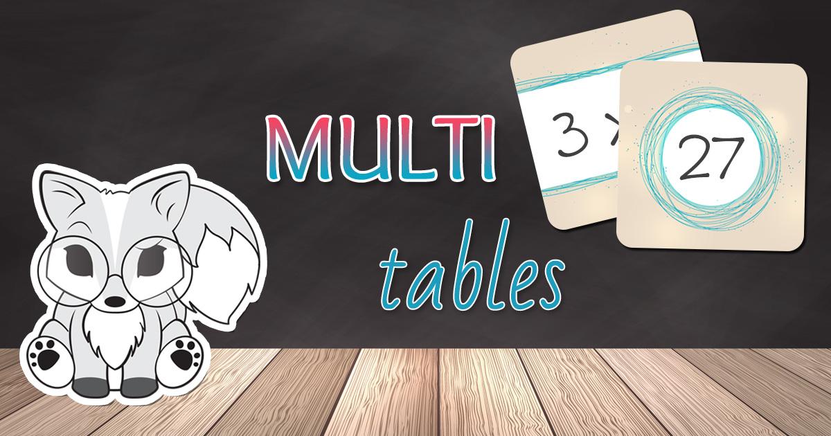 Multi tables 3 jeux pour r viser les tables de multiplication la tani re de kyban - Reviser ses tables de multiplications ...