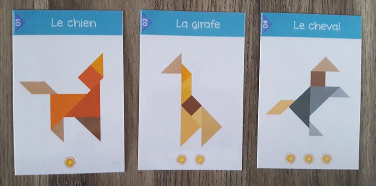 Tangram des soustractions - cartes et niveaux