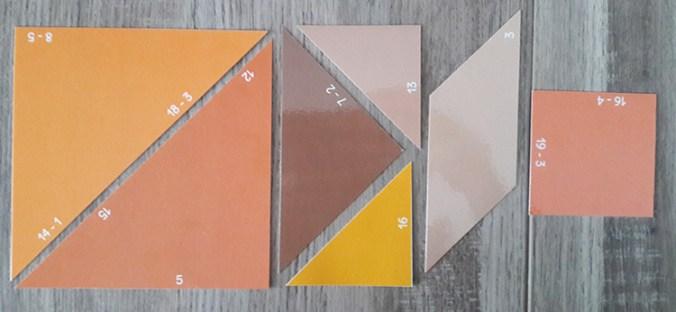 Tangram des soustractions - pièces