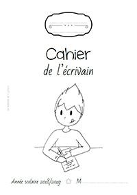 Page de garde 2018/2019 - Cahier de l'écrivain - Jogging d'écriture