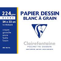Du papier dessin (papier à grain)