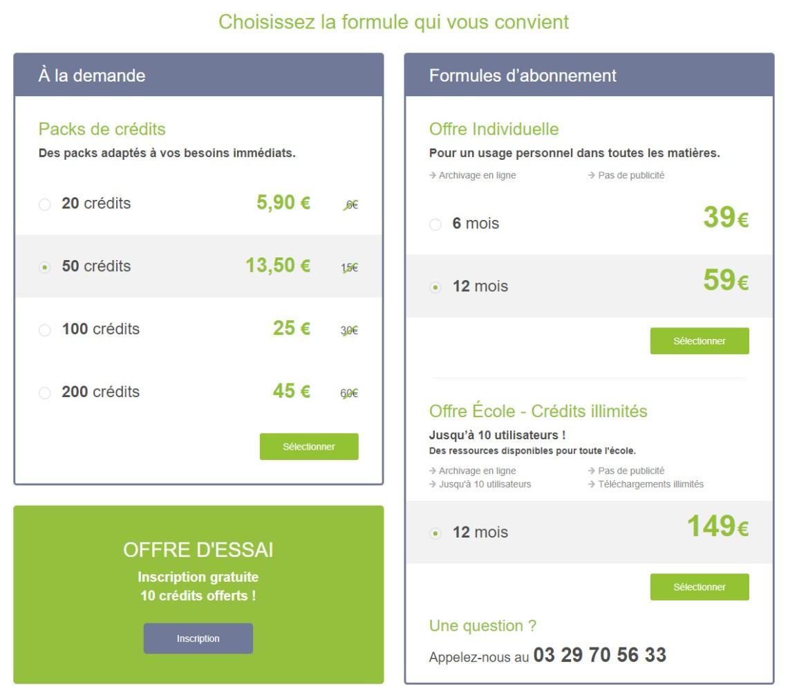 Les formules du site fichespedagogiques.com.