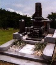 ■関東型蓮華台付高級墓石