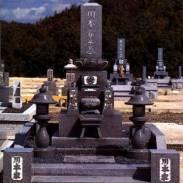 ■中部型蓮華台付高級墓石