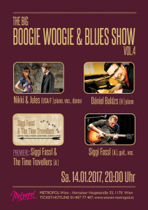 Flyer Boogie Woogie & Blues Show Vol. 4 im Metropol