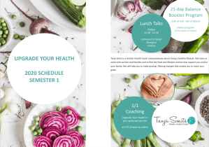 Upgrade Your Health 2020 Semester 1