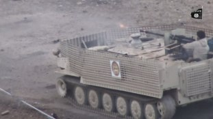 MTLB with slat armor