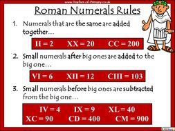 roman numeral rules