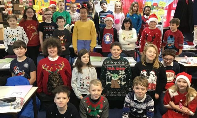 Butterfly Lions wear Christmas jumpers for Save the Children…