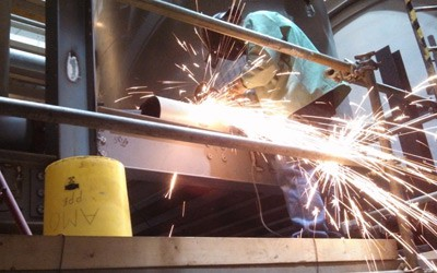 On site steel fabrication and welding
