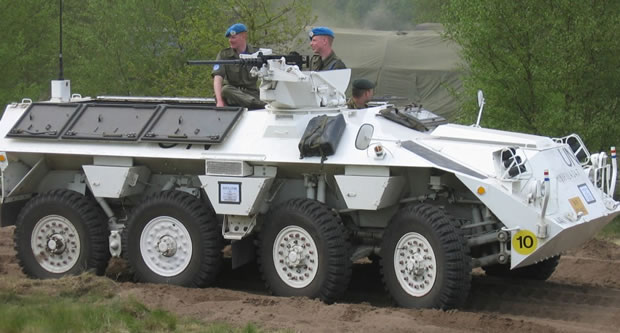 The Dutch YP-408 Wheeled Armoured Personnel Carrier