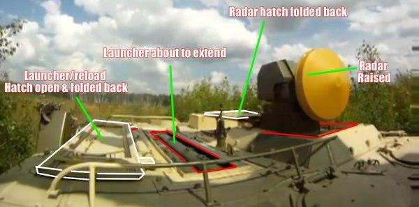 9P157-2 launcher preparing to fire