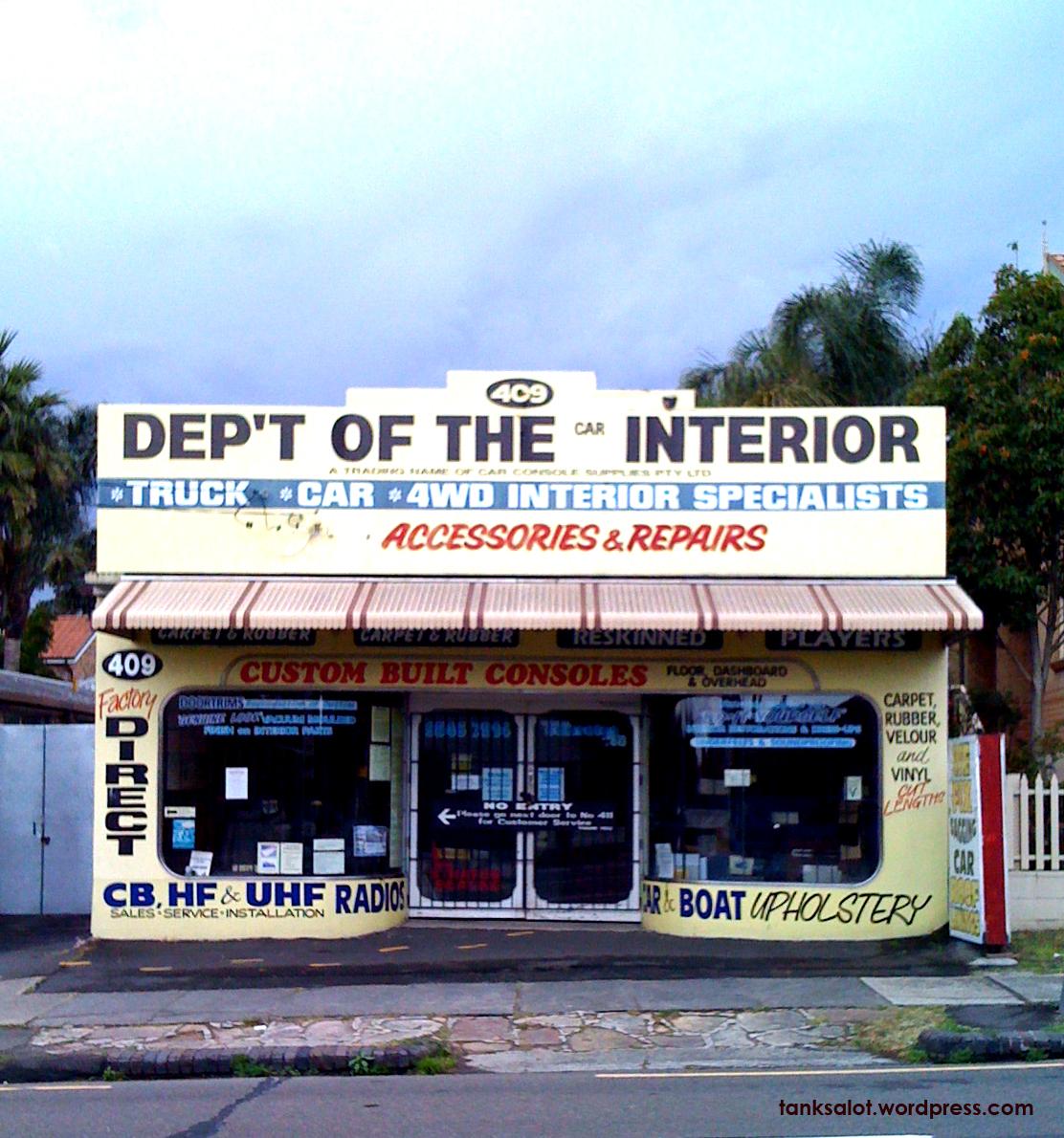 Dep't of the Car Interior
