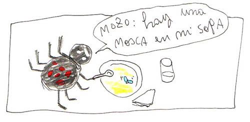 la mosca en la sopa