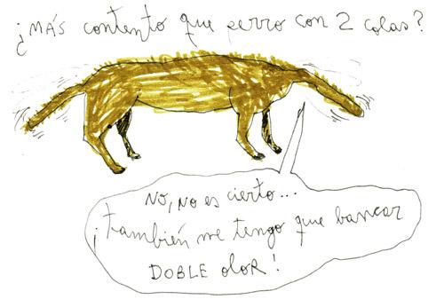 perro con dos colas