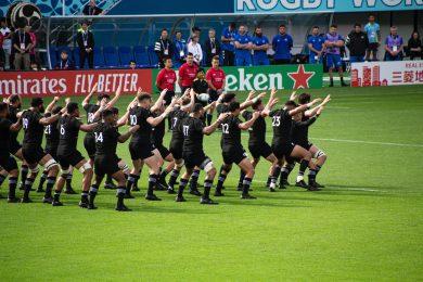 New Zealand all blacks doing the Haka