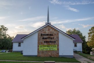 Evangel Baptist Church is on-site at Missionary Acres.