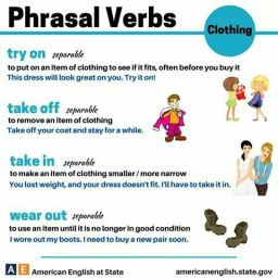 Phrasal Verbs Clothing
