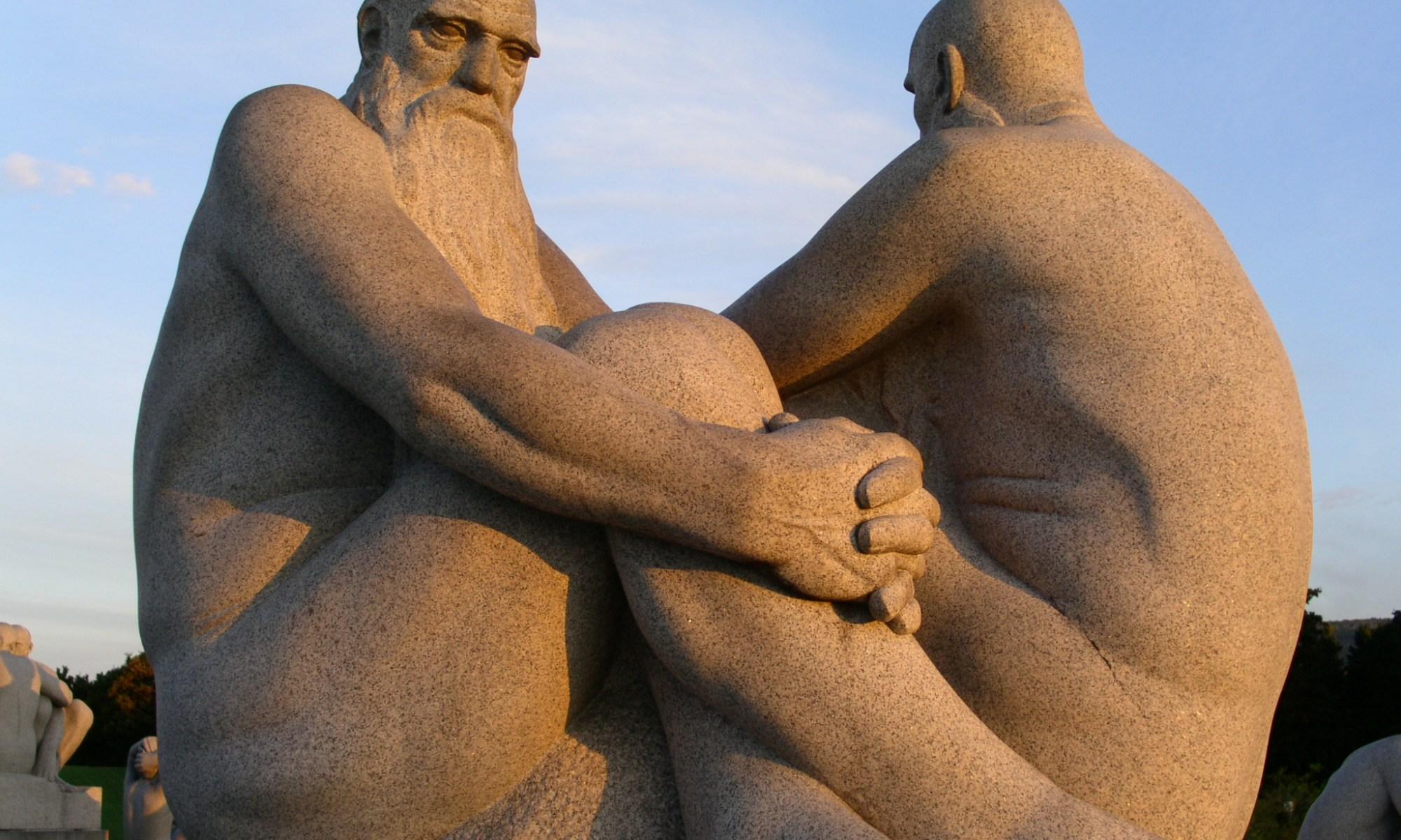 Old Men statue in Vigelands Park