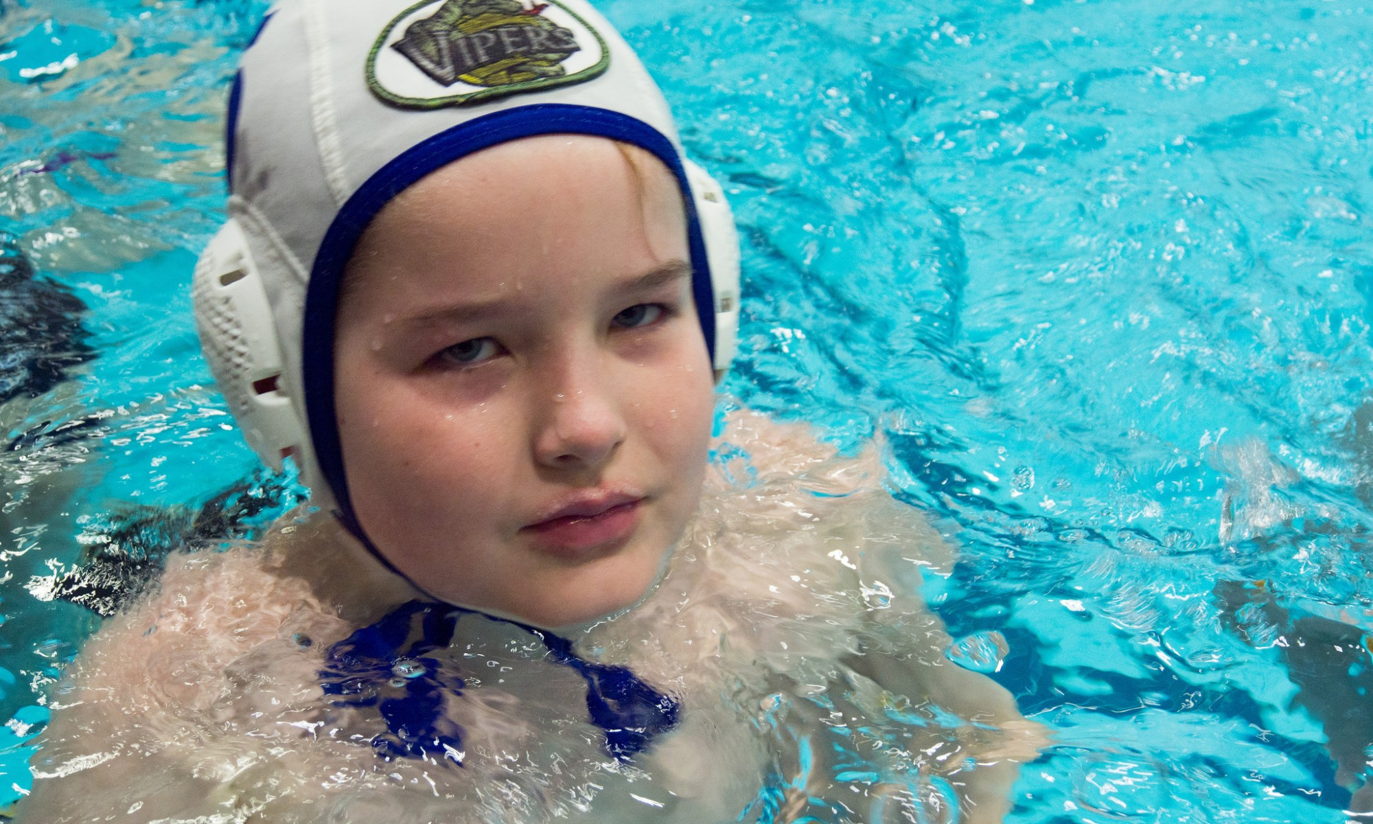 Liam in his waterpolo cap