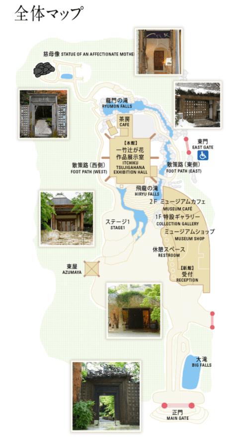 久保田一竹美術館-マップ